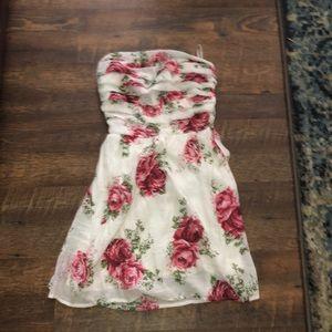 Delia's Small Strapless Rose Dress